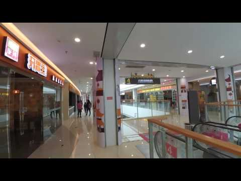 Sunday in a new empty shopping Mall in Changsha