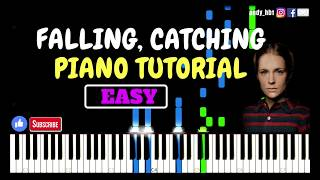 Falling, Catching - Agnes Obel / EASY Piano Tutorial / Sheetmusic / Midi