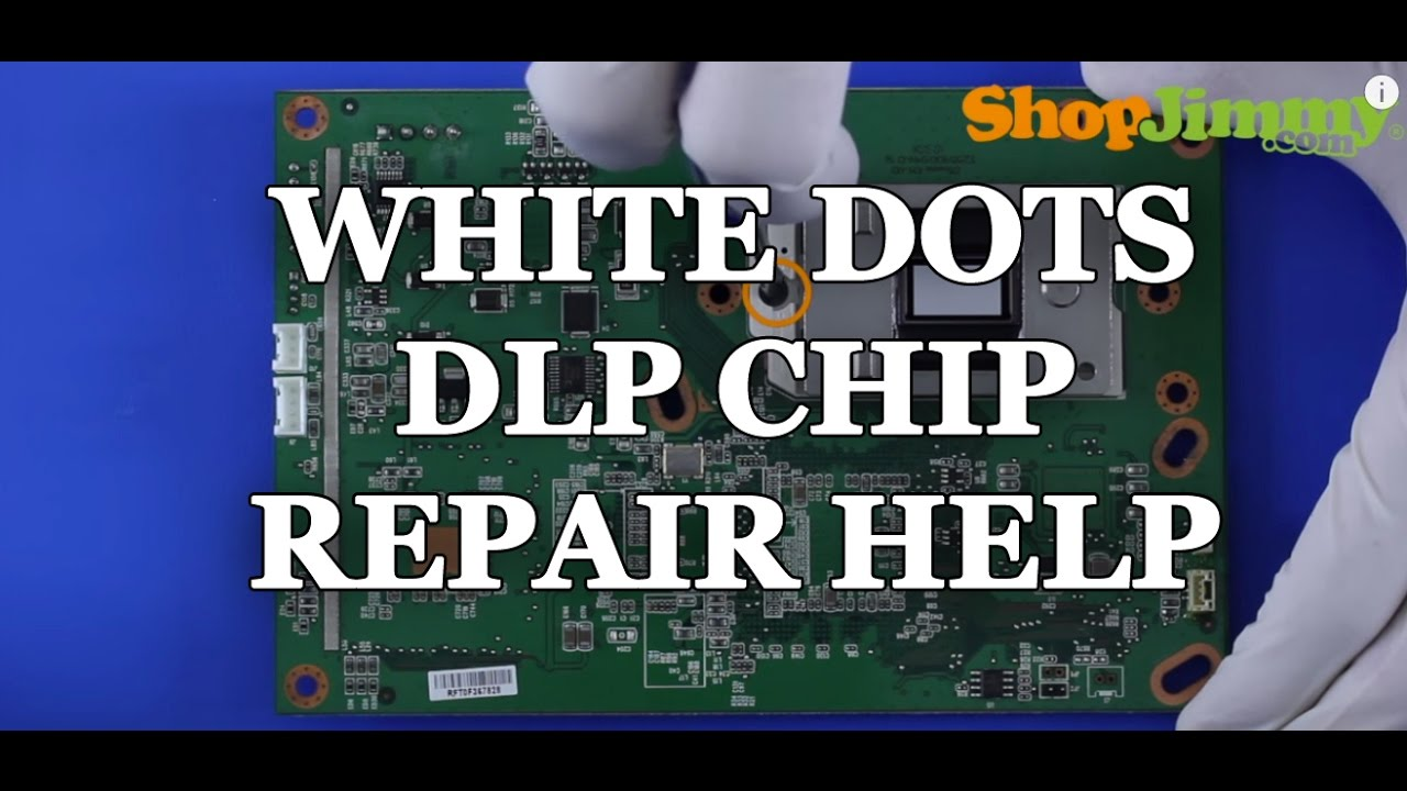 Replacing A DLP TV Chip   White Dots Issue   How To Fix Mitsubishi DLP TVs