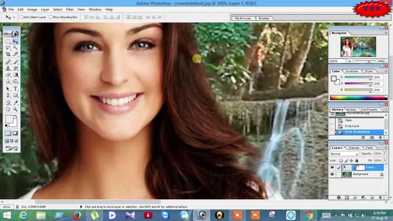 Change photo background in photoshop 7