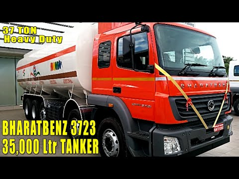 BharatBenz 3723 Heavy Duty Tanker 37 Ton Category, Storage Capacity 35000 Litres, Payload 35000 Kg