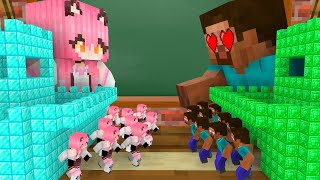 Monster School : EPIC GIRL TINY APOCALYPSE CHALLENGE - Minecraft Animation