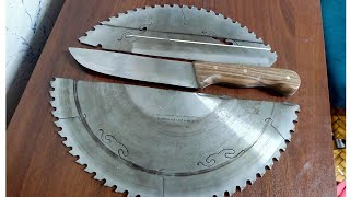 Makine Testere Bıçağından Bıçak Yapımı / Making a Knife From Saw Blade / Kurban Bıçağı