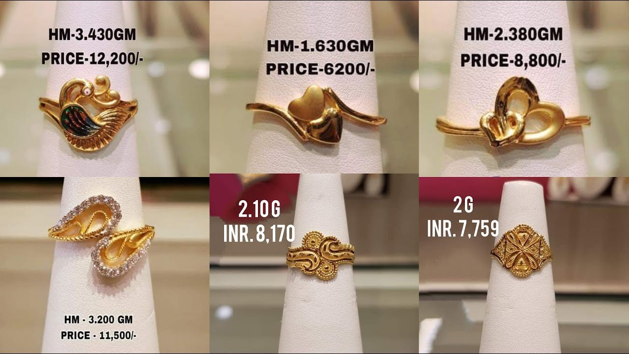Latest Gold Finger Ring Designs With Weight And Price Youtube