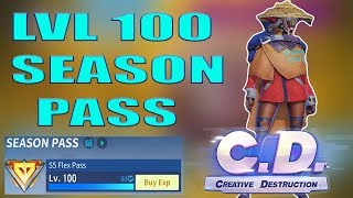 'FIRST Player'' To Reach Level 100 FLEX PASS Season 5 On Creative Destruction (NotLSD)