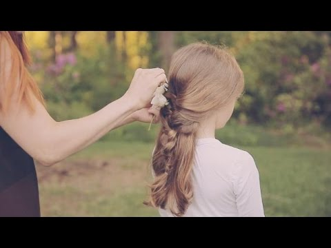 Wedding Hairstyles How To Make An Adorable Flowergirl Braid Youtube