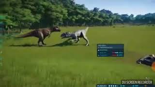 Jurassic world evolution - Indominus rex vs t rex (dino battles series ep 1)