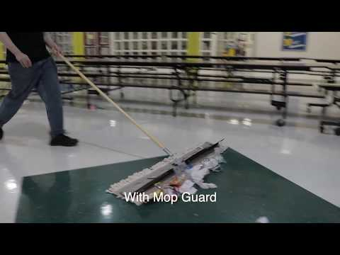 Floor cleaning. Mop Guard™️ for schools, sports arenas, cafeteria, warehouses, etc.