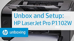 Unboxing and Setting Up the HP LaserJet Pro P1102W Printer   HP