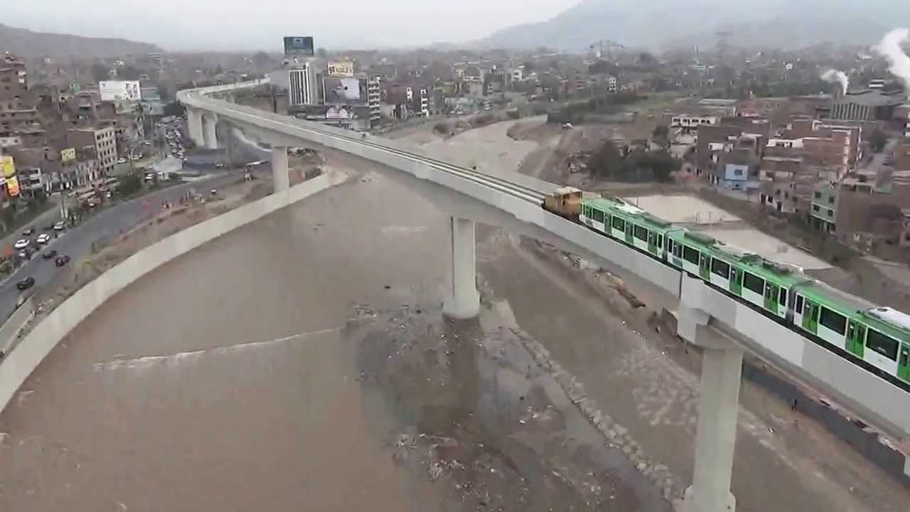 Metro de Lima en San Juan de Lurigancho - YouTube