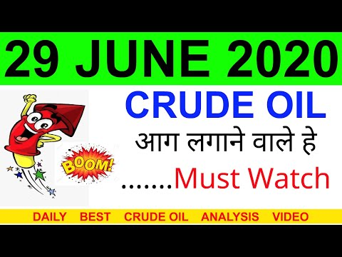Crude oil complete analysis for 29 JUNE 2020 | crude oil strategy | intraday strategy for crude oil