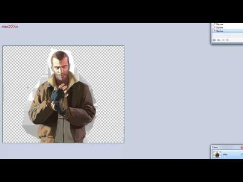 как убрать задний фон у картинки в Paint.NET