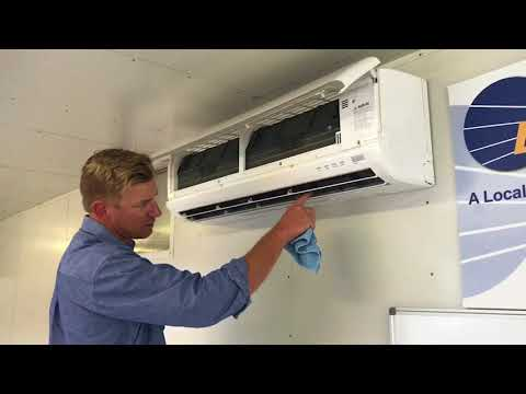 Split system air conditioning clean