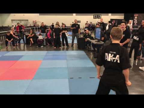 Zach Thomas - TEAM AKA - Musical Form Compete Nationals 2017 - Airstrike Martial Arts