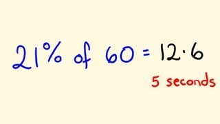 Percentage Math Trick 2 - Solve percentages mentally - percentages made easy!