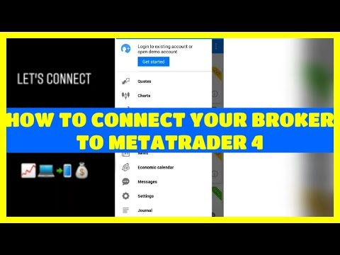 How To Connect Broker To Metatrader 4 Mobile Fx Choice Youtube