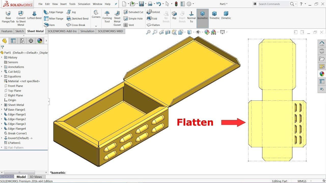 Solidworks Sheet Metal Exercise Basics Youtube