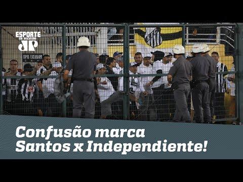Conmebol é RIDÍCULA! Confusão marca Santos x Independiente!