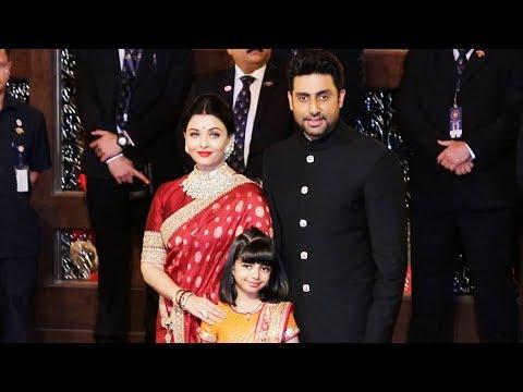 Aishwarya Rai Bachchan Look So Royal With Abhishek And Aaradhya At Isha Ambani's Wedding Ceremony