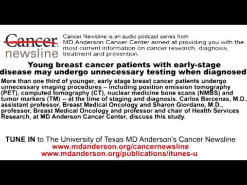 Young breast cancer patients with early-stage disease may undergo unnecessary testing when diagnosed