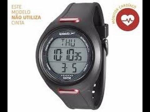 af617eec700 Modos de operação Monitor Cardíaco Speedo com Frequencímetro Digital Quartz