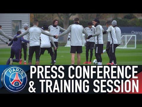 PARIS SAINT-GERMAIN - CELTIC : TRAINING SESSION & PRESS CONFERENCE