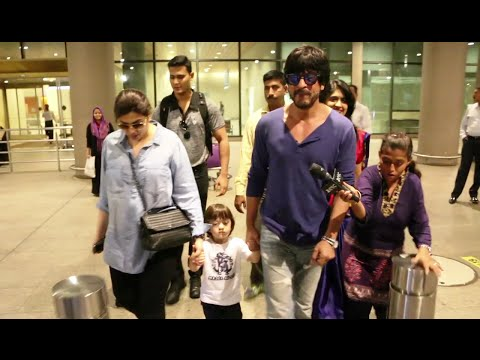 Shahrukh Khan with son Abram SPOTTED at Mumbai Airport.