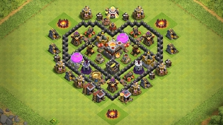 Undefeated Town Hall 6 (TH6) Heart ❤️ Base !! [ Valentine Special ] - Clash Of Clans | 2017