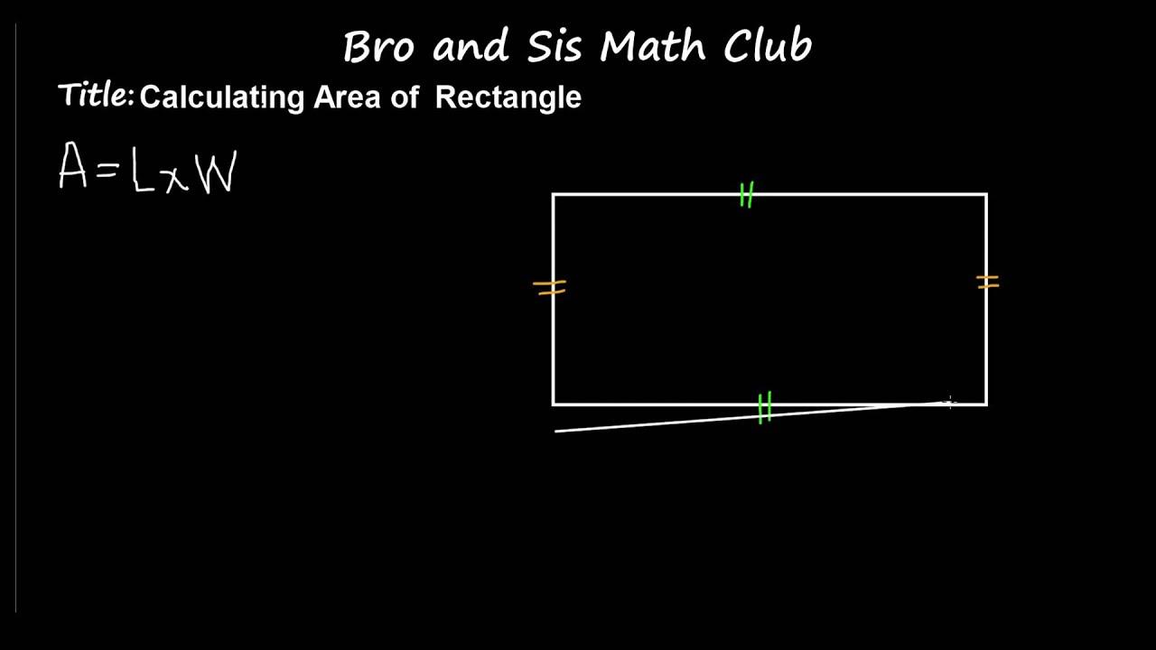 6th Grade Math Calculating Area Of Rectangle