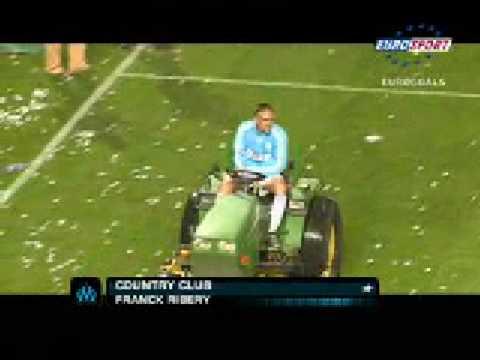 Franck Ribéry driving a tractor