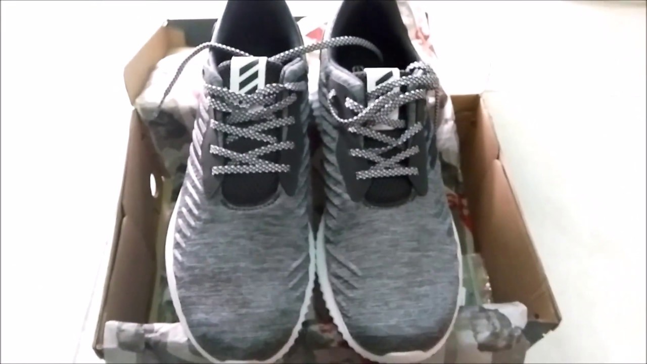 0e1522484 Adidas Alphabounce RC Grey unboxing