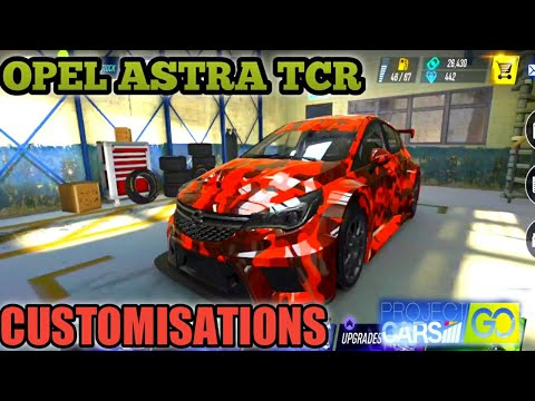 OPEL ASTRA TCR CUSTOMISATIONS - PROJECT CARS GO |