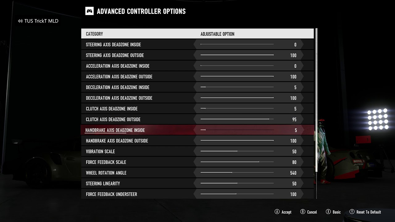 Thrustmaster Tx Wheel Settings For Forza Motorsport 7 Xbox One Youtube