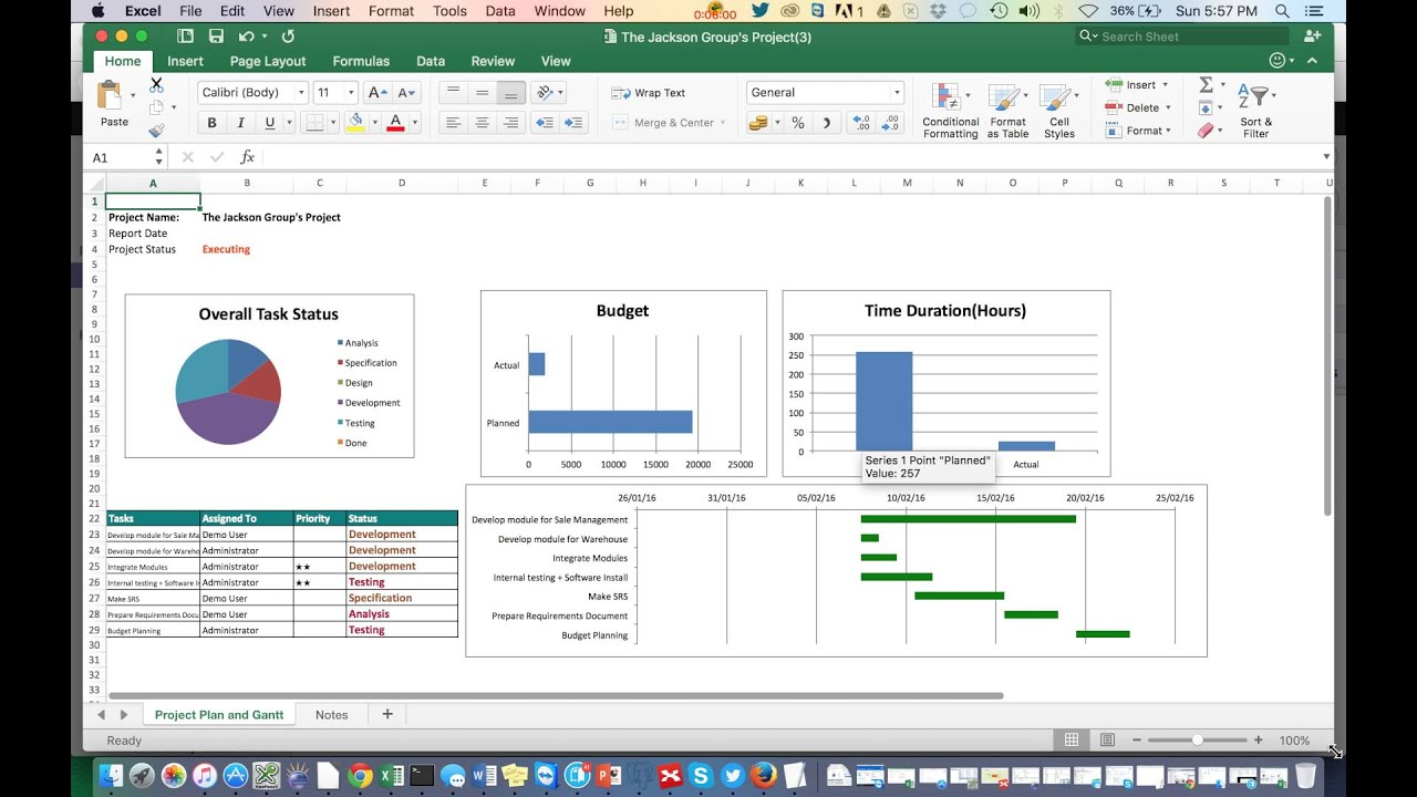 Project Status Report YouTube – Project Status Report Excel