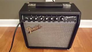 FENDER CHAMPION 20 FULL VOLUME.