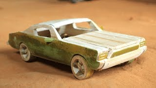 How to make car Mustang GT from bamboo.