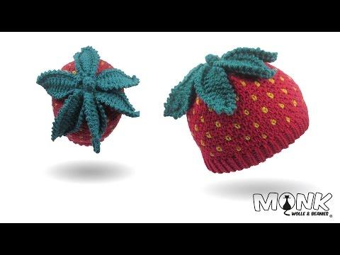 Mütze häkeln – Erdbeerbeanie – Erdbeermütze häkeln