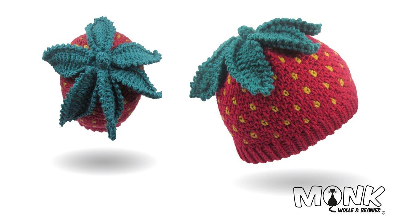 Mütze Häkeln Erdbeerbeanie Erdbeermütze Häkeln Youtube