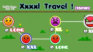 XXXXL TRAVEL (15Min With 5 Stages) | Geometry Dash 2.1 : Boffis Game All Part (1~5) - Boffis123