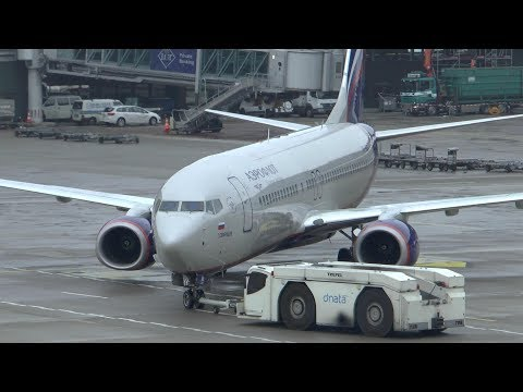 Aeroflot Boeing 737 departure at Zurich Airport - Вылет Аэрофлот Боинг 737