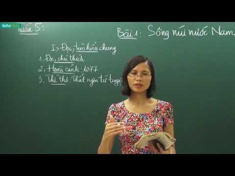 [Học online] SÔNG NÚI NƯỚC NAM _ Ngữ văn 7 _ TS. Trần Thị Vân Anh