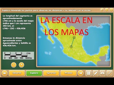 La Escala Del Mapa.La Escala En Los Mapas Youtube