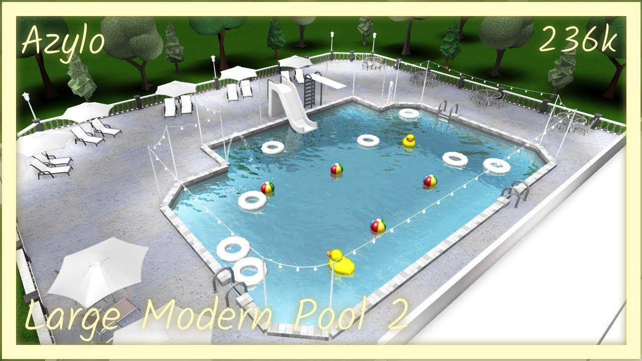 Its Funneh Roblox Bloxburg Pool Roblox Bloxburg Large Modern Pool 2 236k Youtube