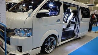(4K)FEEL TOYOTA HIACE V RAVE8LTD modified ハイエースカスタム - 大阪モーターショー2015 thumbnail