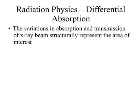 CT Scanning Physics