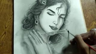 Krishna ( drawing Shree Krishna)/ shree krishna / lord shree krishna.