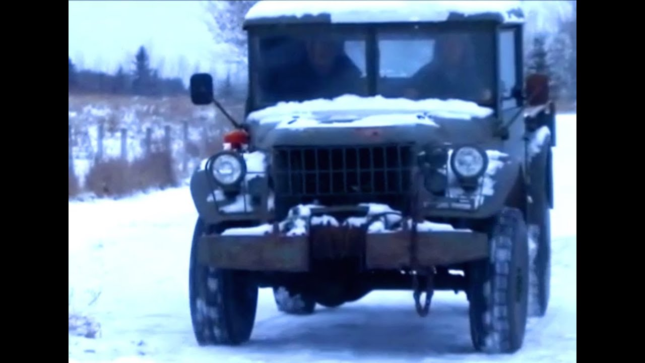 Cold start the 1952 dodge m 37 power wagon