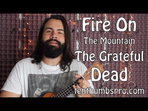 Grateful Dead - Fire on the Mountain - CAGED Two chord Ukulele Song Tutorial