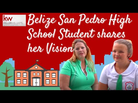 Belize San Pedro High School Student shares her Vision