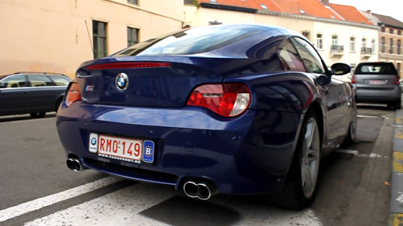 BMW Z4 M Coup with AC Schnitzer exhaust revving and accelerating